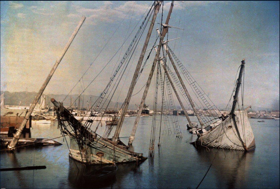 1929. Испания. Кладбище кораблей в Малаге