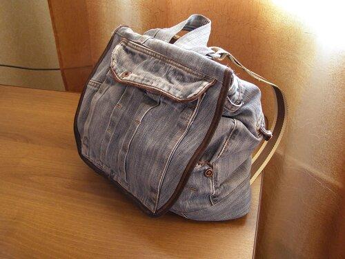 как сшить джинсовый рюкзак - Выкройки одежды для детей и взрослых.
