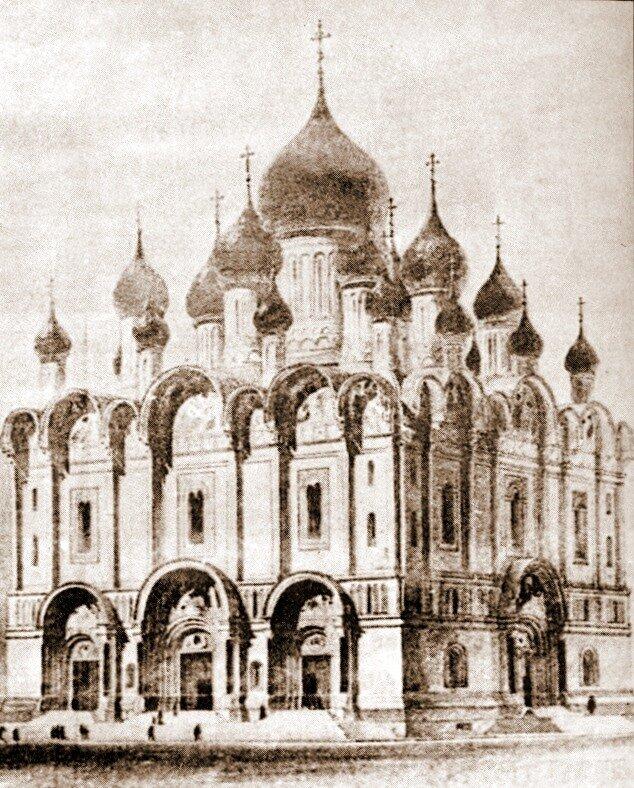 Собор Св.Александра Невского на Миусах. Рисунок.