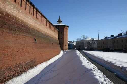 Крепостная стена. Вид на юг.