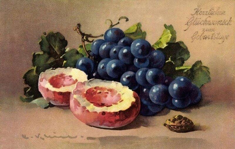 К. Кляйн. Персики и виноград.