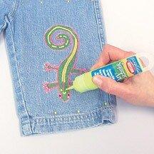 Рисование по джинсовой ткани