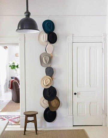 Декор из старых шляп