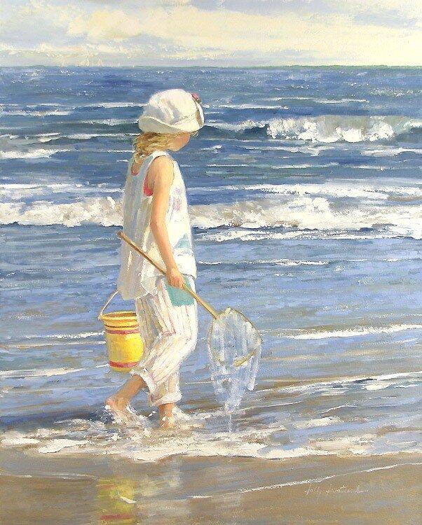 spesso Il mondo di Mary Antony: I bambini sulla spiaggia di Sally Swatland VZ45