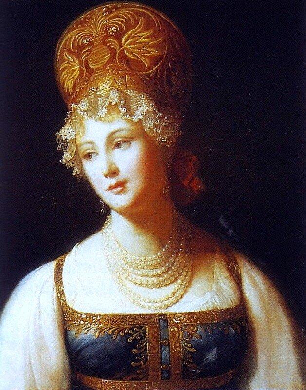 П. Барбье  Портрет молодой женщины в русском сарафане 1817