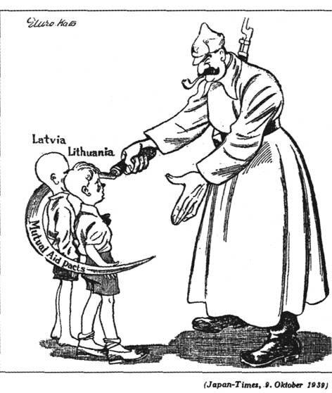 USSR Сталин Латвия и Литва