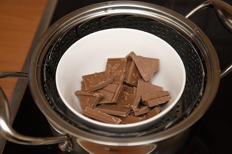 Растопить белый шоколад для торта