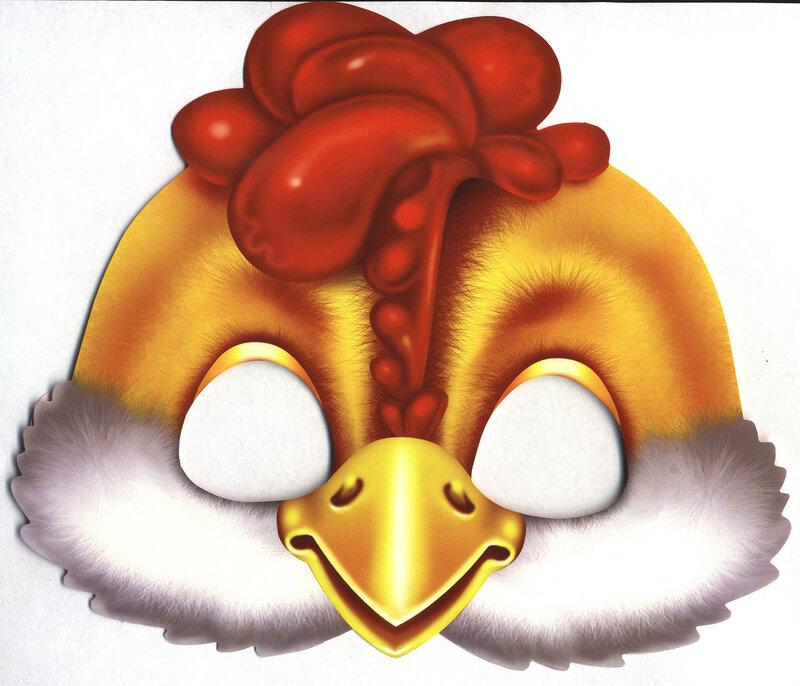 Маска цыпленка из бумаги