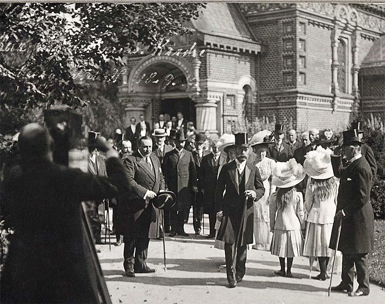 Николай II, царь, в городе Бад-Гомбург, 18 сентября 1910 года. Царь вышел из  православной Церкви Всех Святых