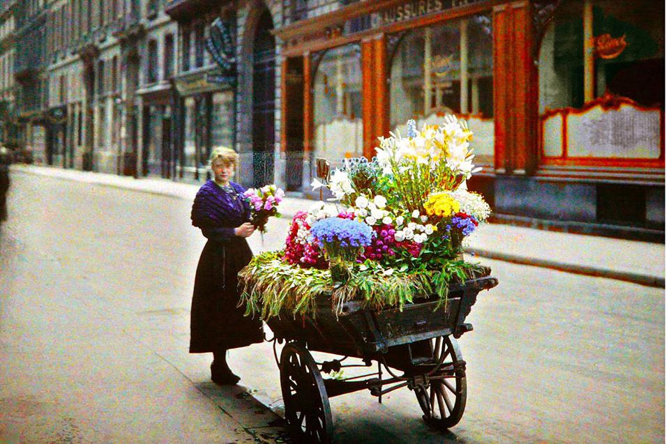 Редчайшие цветные фото. Париж 100 лет назад.