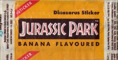 Вкладыши от жевательной резинки – Jurassic Park (Turkey)