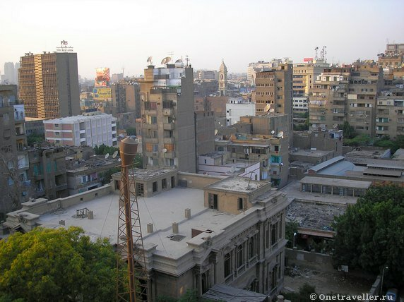 Египет. Вид на Каир с крыши гостиницы.