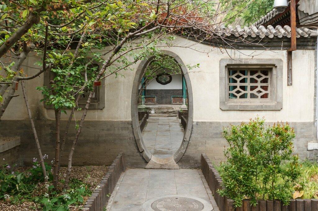 Ворота овальной формы, резиденция князя Гуна, Гунванфу