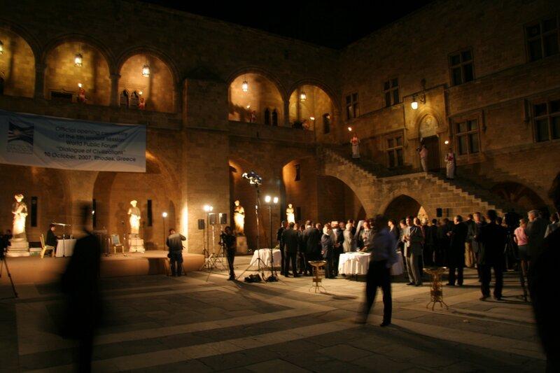Церемония открытия Родосского форума