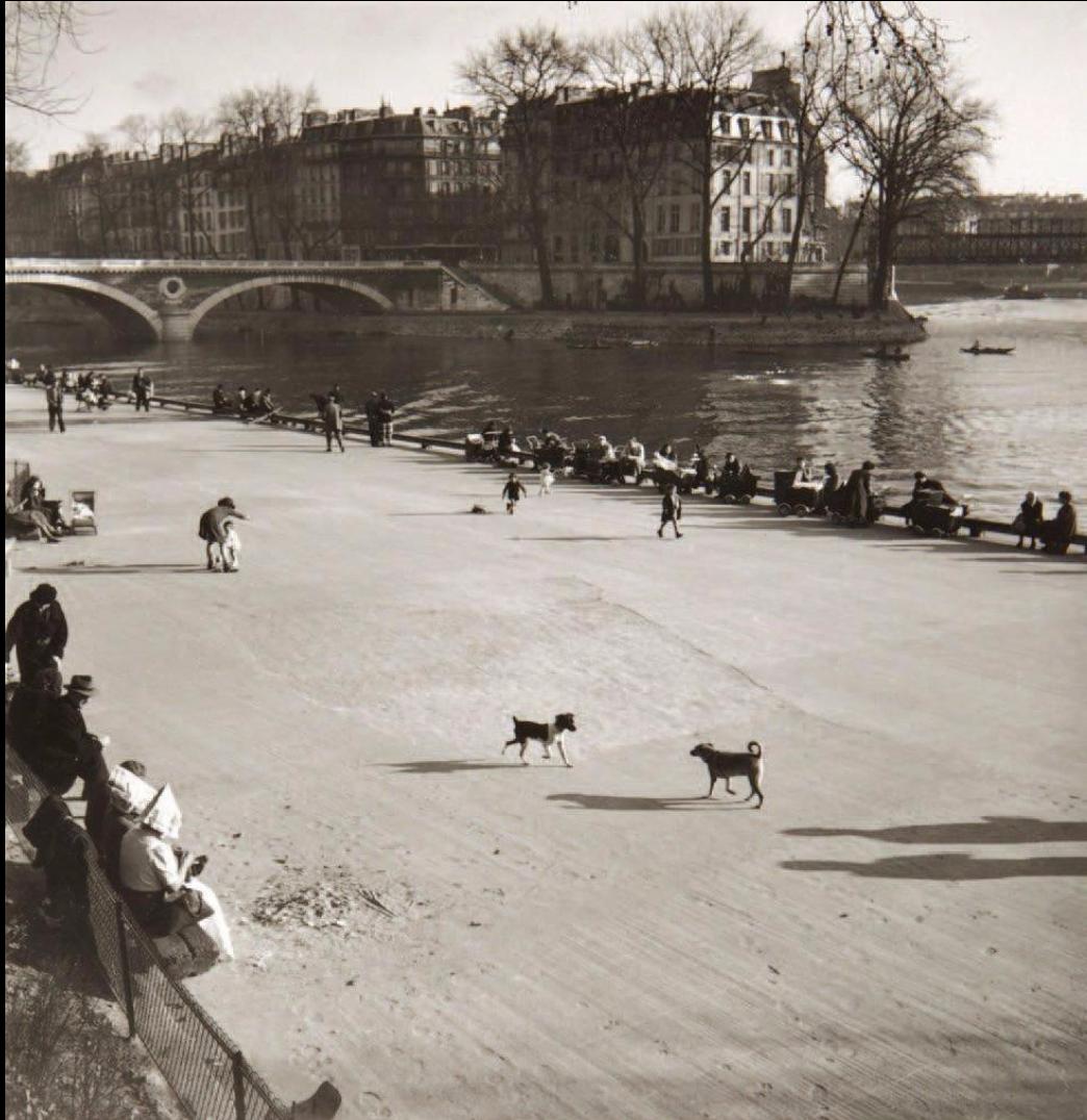1955. Река Сена, Париж