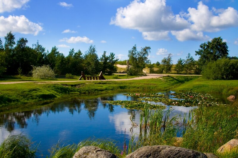 Summer park in Ventspils