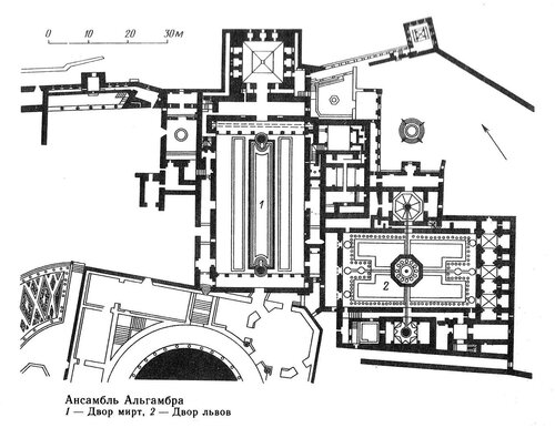 Альгамбра, план ансамбля, Испания