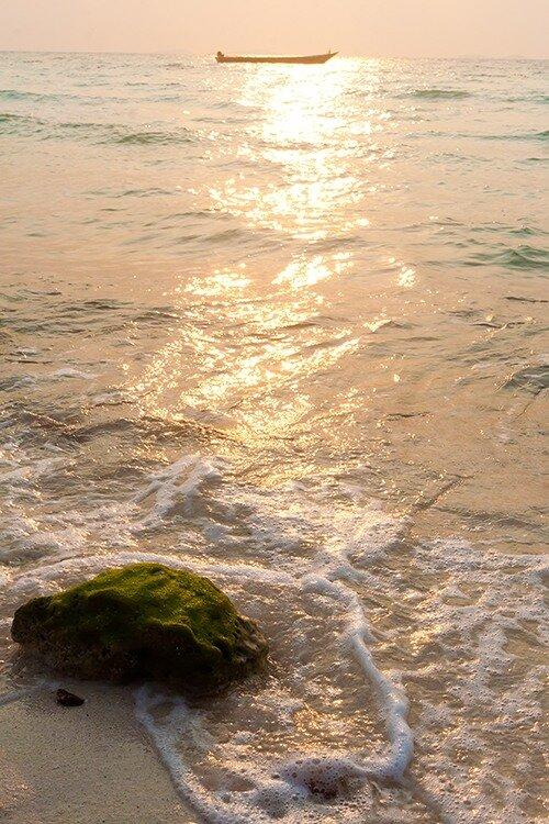 Закат на острове Ко Лан. Тайланд