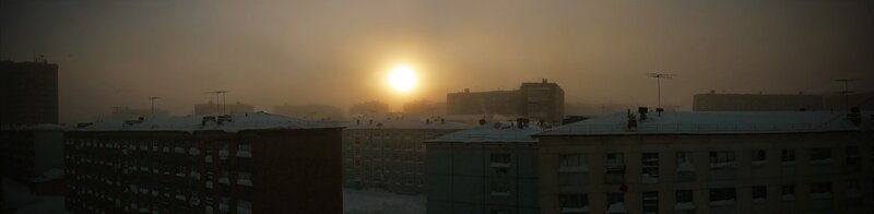 Панорамный вид на забытый Богом город