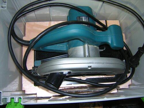 Makita 5704R в систейнере с самодельным вкладышем