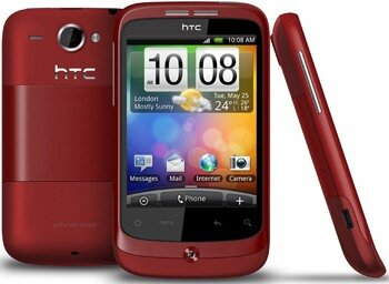 HTC Wildfire red