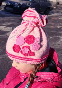 ...для девочки Описание: видеоуроки, технология вязания спицами шапочки.