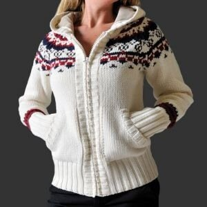 Уровень сложности схемы вязаного свитера женского: для умелых.