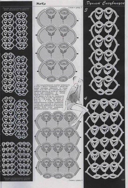 Дуплет журнал по вязанию ленточное кружево 40