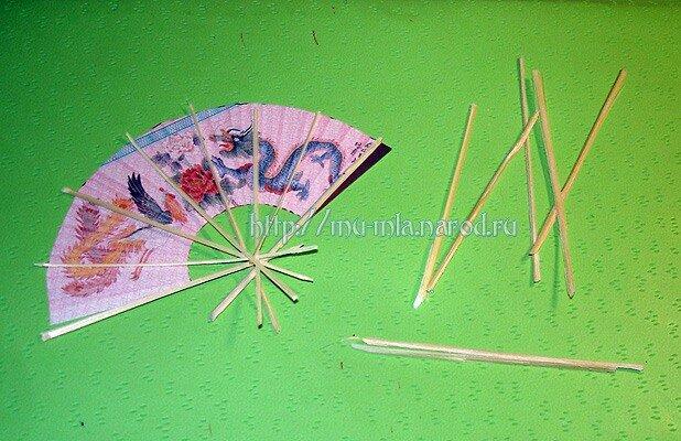 Китайский веер сделать своими руками 962