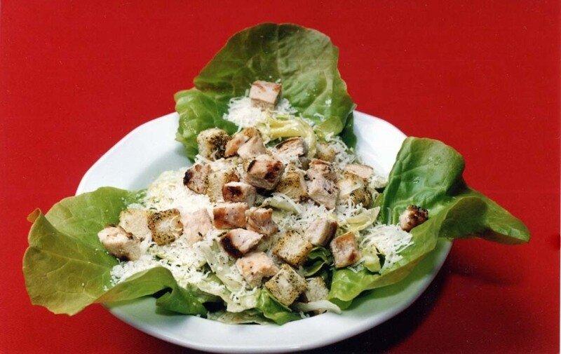 Рецепт салата без мяса с