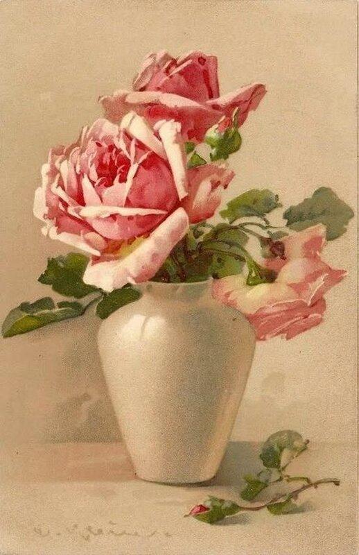 К. Кляйн. Розы в вазе