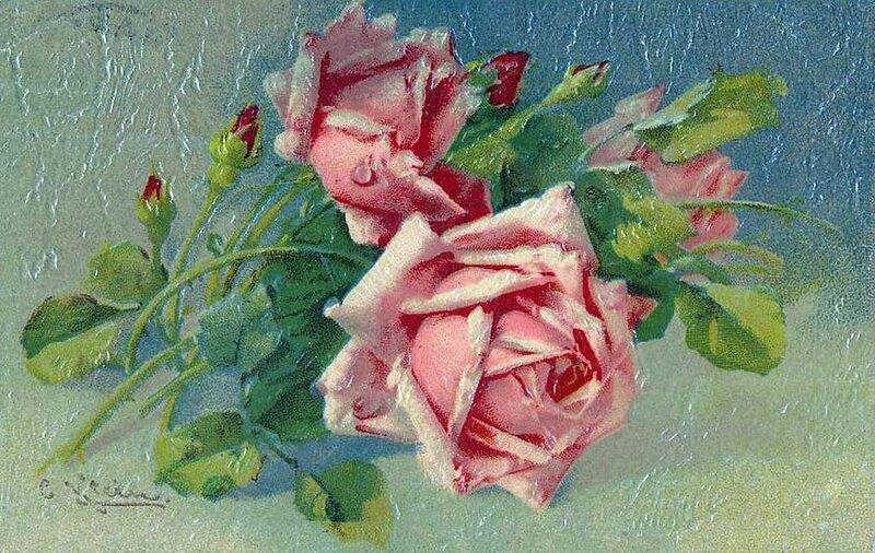 К. Кляйн. Розовые розы.