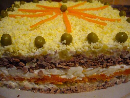 Печеночный слоеный торт с фото