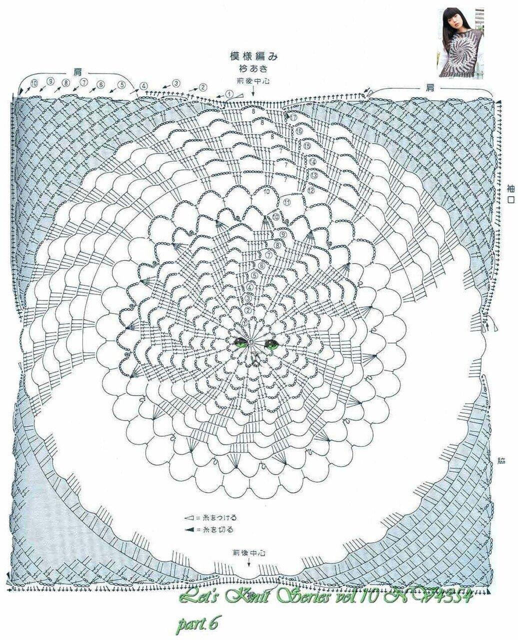 Вязание крючком топов медузы