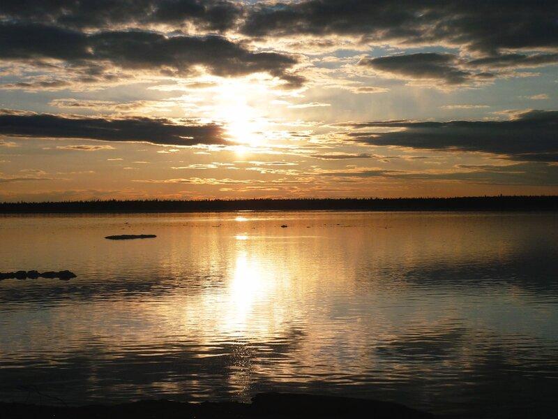 Вечер над рекой Вилюй