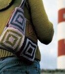 Украшение Вязание спицами: сумочка Нитки.