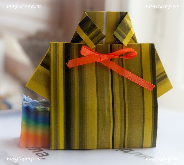 упаковка рубашка оригами из бумаги