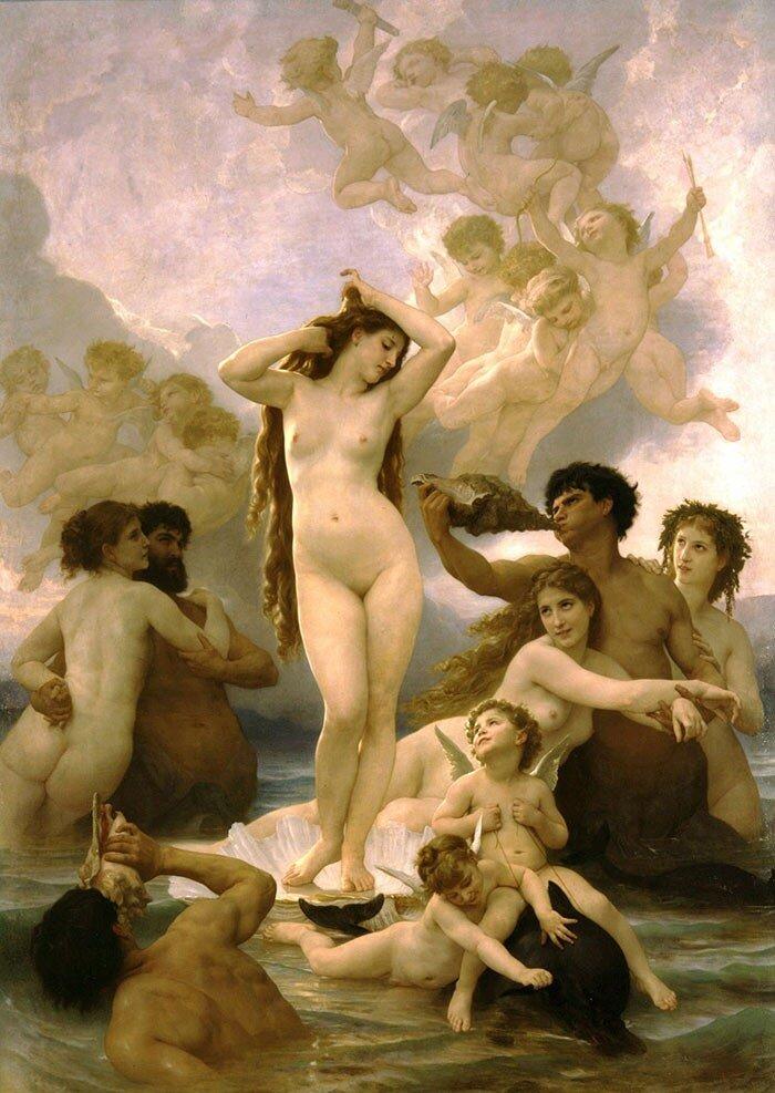 Бугеро, Рождение Венеры, 1879 г.  The Birth of Venus,