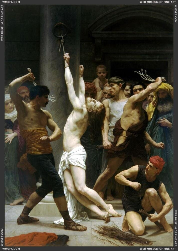 Бугеро,  Бичевание Господа Нашего, Иисуса Христа(1880)   William Bouguereau Flagellation_de_Notre_Seigneur_Jesus_Christ_-_The_Flagellation_of Our Lord Jesus Christ1880