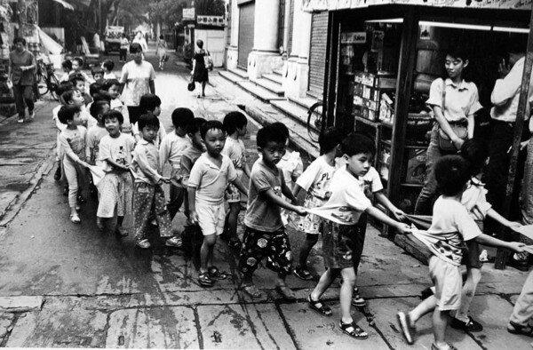 Crocodile of Children, Guangzhou, China 1994