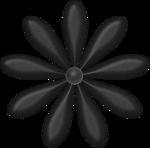 black flower1
