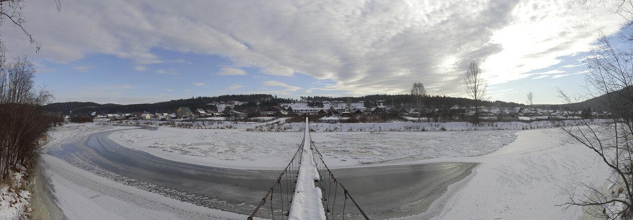 панорама с висячего моста