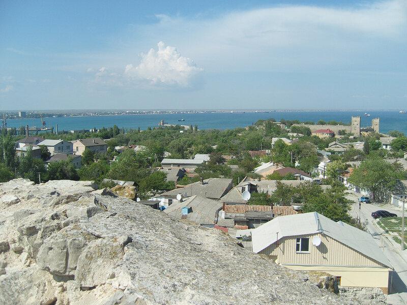 вид на залив с Круглой башни