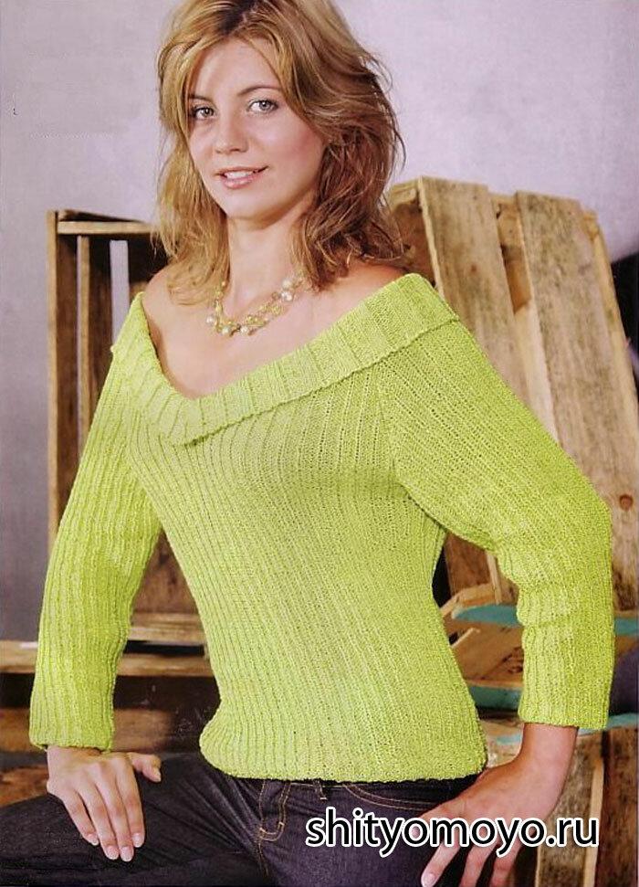 Как связать резинку на свитер