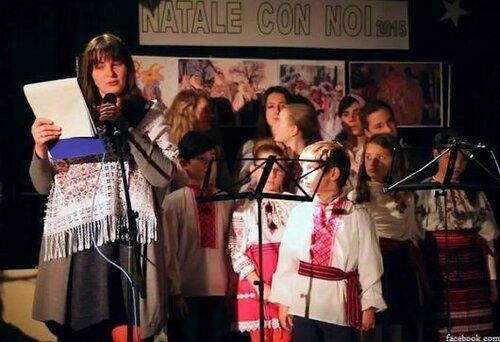 На литературном вечере в Италии звучали молдавские колядки