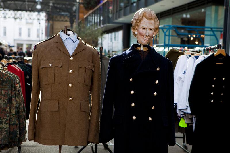 mannequins on street market in London
