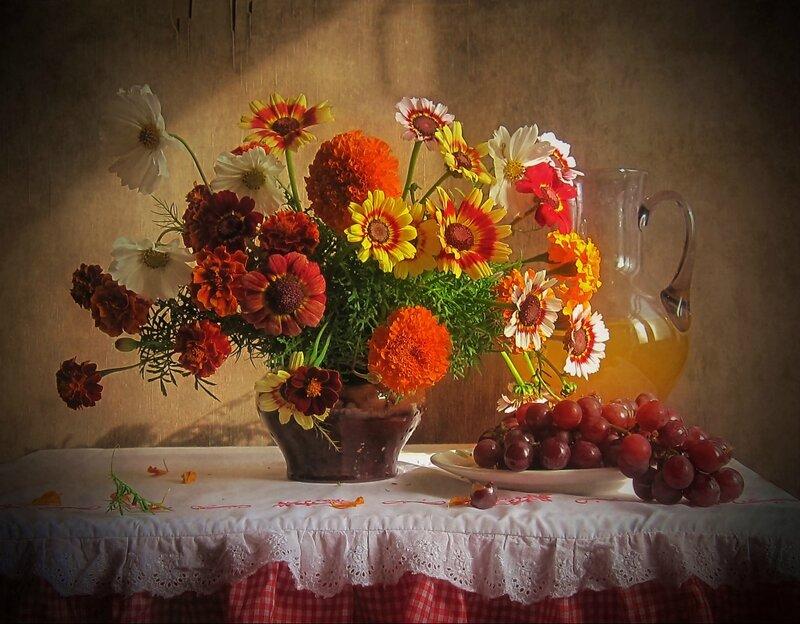Открытка осенний букет цветов, любимому своими руками