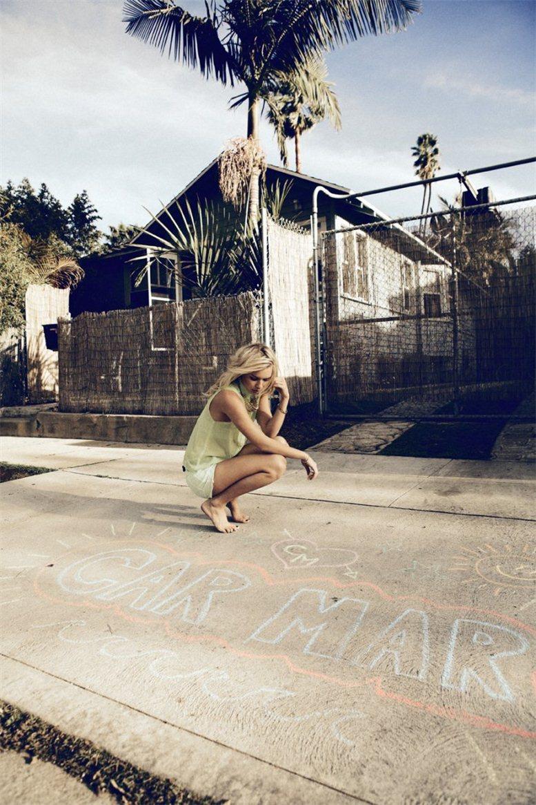 Alexandra Spencer / Александра Спенсер в каталоге бренда Car Mar, весна 2012 / фотограф Daniel Kincaid