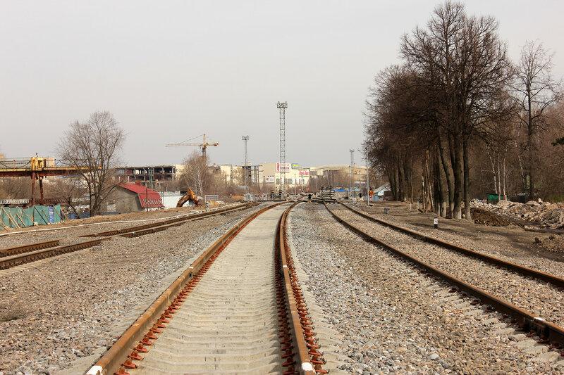 Реконструкция станции Ростокино, вид на Белокаменную