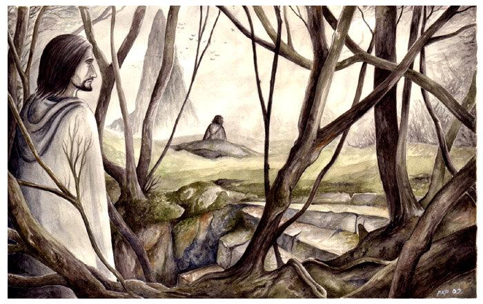 Boromir and Frodo on Amon Hen - peet